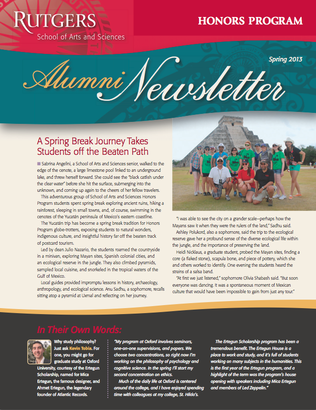 SAS_Honors_Alum_Newsletter_2013