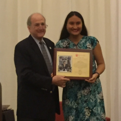 SASHP Student Monica Torres Receives Clement A. Price Human Dignity Award