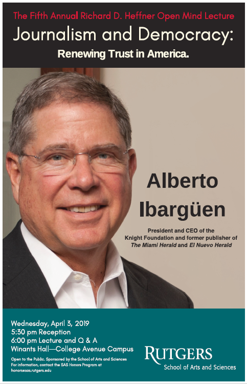 2019 Richard D. Heffner Lecture with Alberto Ibarguen