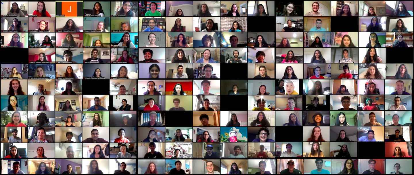 Collage image of virtual Peer Mentor Summer Gathering